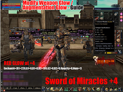 glow lineage 2 enchant augmentation modification